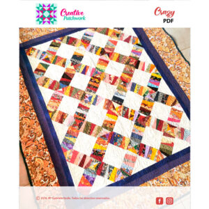 Patrón creative patchwork manta crazy